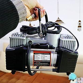 HJJH Bomba de compresor Aire portátil 12 V CC, inflado neumáticos portátil, Servicio Pesado, 150 PSI, para neumático automóvil, Motocicleta, ...