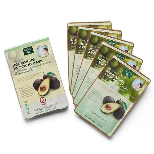 Earth Therapeutics 5 pack Nourishing Avocado Face Masks ()