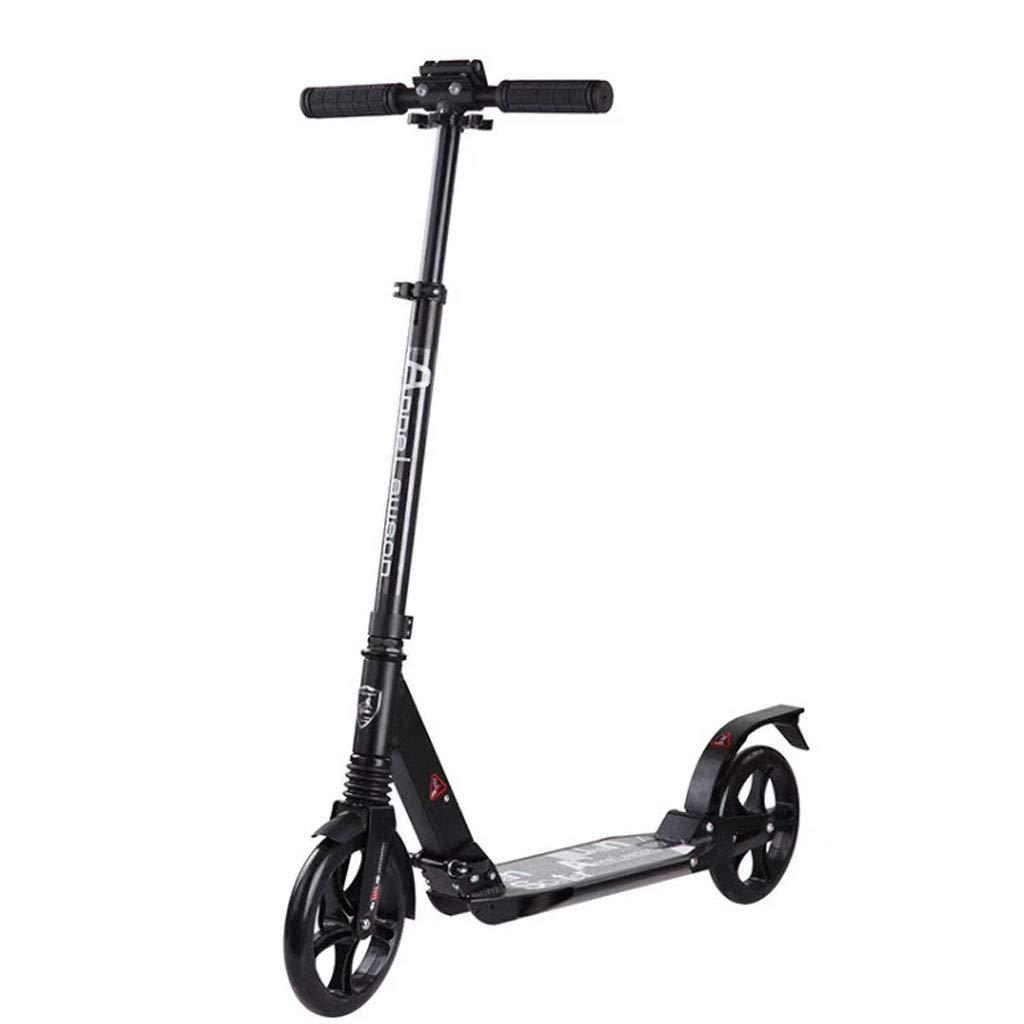 キックボード キックスクーター大人のキックスクーター - 滑らかな、プロプッシュ都市スクーター大人、通勤スクーター、市スクーター - 折りたたみスクーター調節可能なTバー - ビッグキッズ、男の子の女の子 (サポート220ポンド)