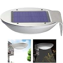 QITECO Aluminum LED Microwave Solar Outdoor Garden Lights with Motion Sensor, Wall Lights for Garden, Patio, Home