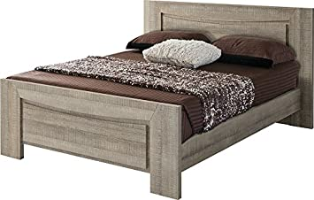 Amazon De Destock Meubles Bett Eiche Grau 140 X 190 Mit