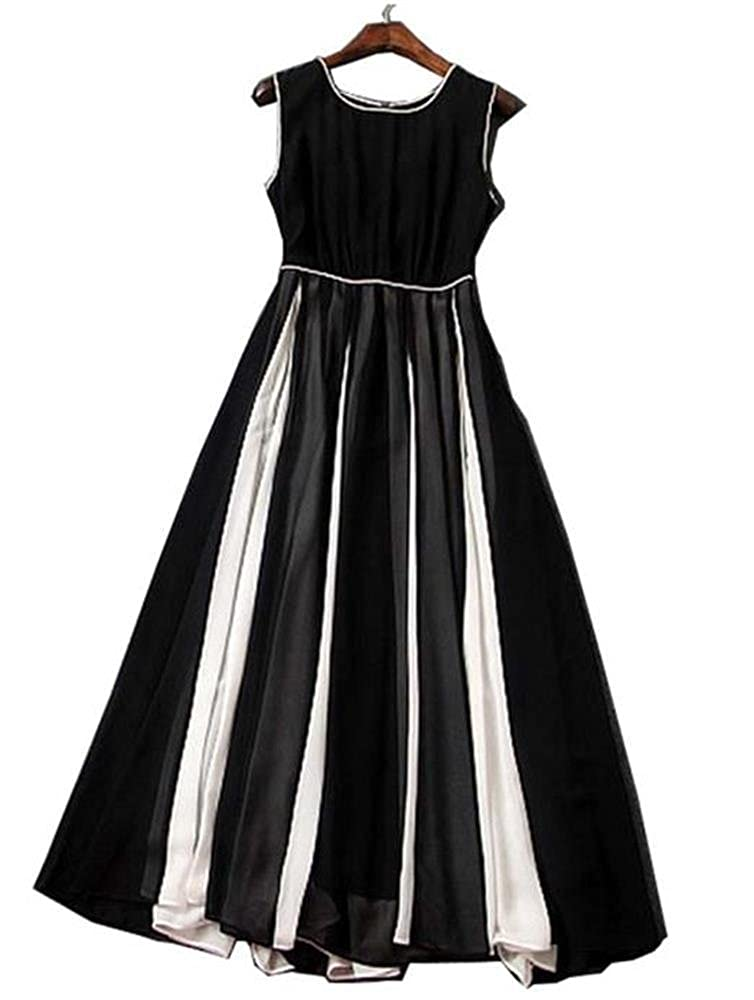 842e055434 Angel Lily Sexy slim sleeveless chiffon dress plus1x-10x(SZ16-52) at Amazon  Women s Clothing store