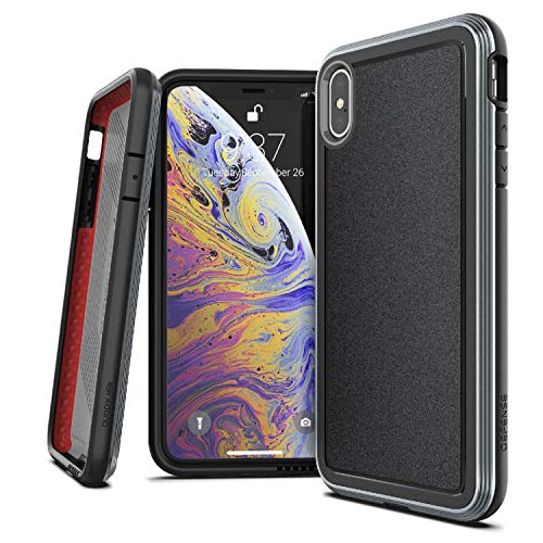 X-Doria Defense Ultra Series, iPhone Xs Max Case - Heavy Duty Protective Case with Anodized Aluminum Frame, Military Grade Drop Tested Case for Apple iPhone Xs Max, 6.5 Inch Screen, (Black)