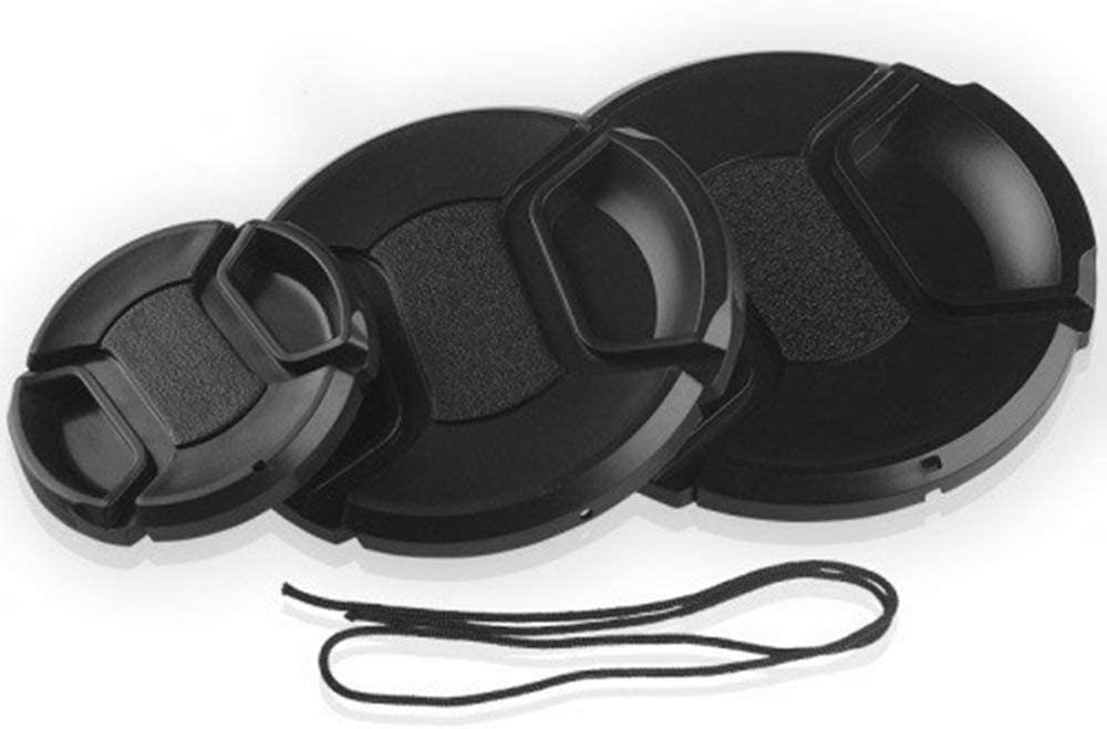 Knossus Copriobiettivo per Fotocamera Fotocamera Digitale Universale Copriobiettivo Protettivo Coperchio Nero 37mm