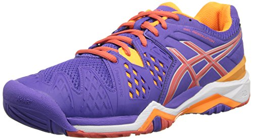 Nectarine White 12 Tennis Coral 6 US Women's Shoe Asics Gel B Resolution Lavender Hot Silver x4qwnY6
