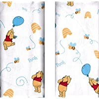 Disney Winnie The Pooh Receiving Blankets. Two Pack of Varied Prints and Styl...