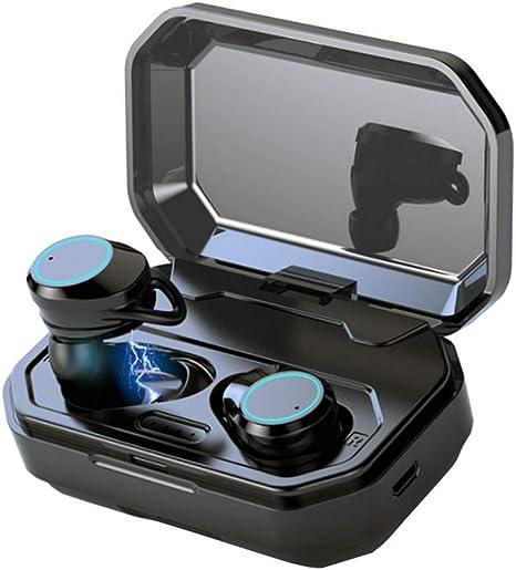 Ewendy Newest Auriculares Inalámbricos con Caja de Carga Bluetooth Auricular 3D de Bajo Estéreo Auriculares In-Ear IPX7 Impermeable Bluetooth 5.0 Auriculares para Deporte: Amazon.es: Instrumentos musicales
