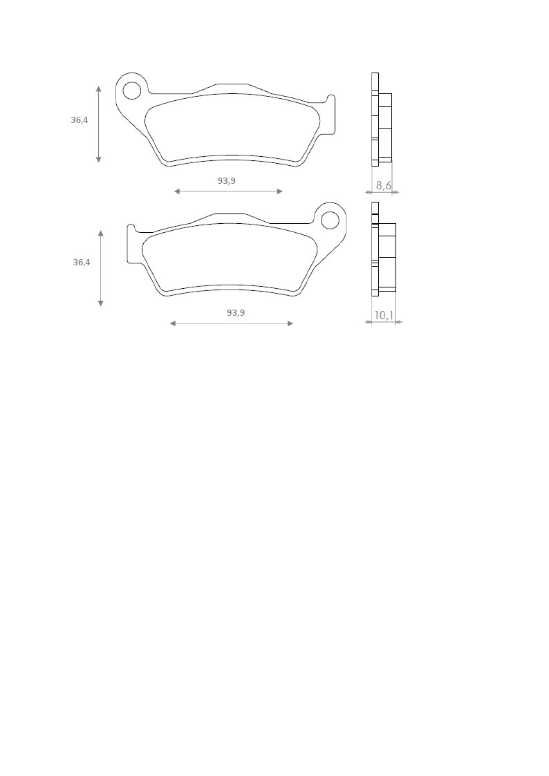 K 1100 RT K 1200R,K 1200 S R 850 Gs Brenta Pastiglie Freno Organiche Moto per BMW R 850 C