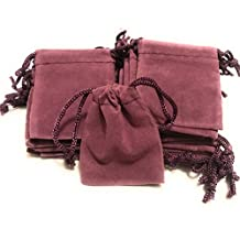 "2"" X 2.5"" Purple Velvet Drawstring Pouch for Jewelry, Gifts, Small Handmade items,or Party and Wedding Favours"