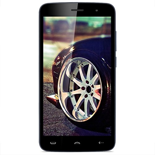 HOMTOM HT17 Pro 5.5 Zoll 4G-LTE-Smartphone Android 6.0 IPS HD Display Dual Sim Quad Core 1.3GHz 2GB RAM 16GB ROM 8MP+2MP Dual Kamera Handy ohne Vertrag Smart Wake Smart Gestures HotKnot Fingerprint GPS WIFI Dunkelblau