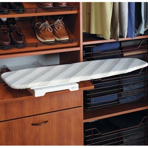 (Hafele Ironing Board Shelf Mounted, Folding, Steel, Epoxy White)