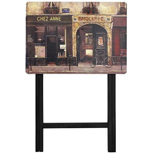 Oriental Furniture Parisian Cafe TV Tray by ORIENTAL FURNITURE (Image #1)
