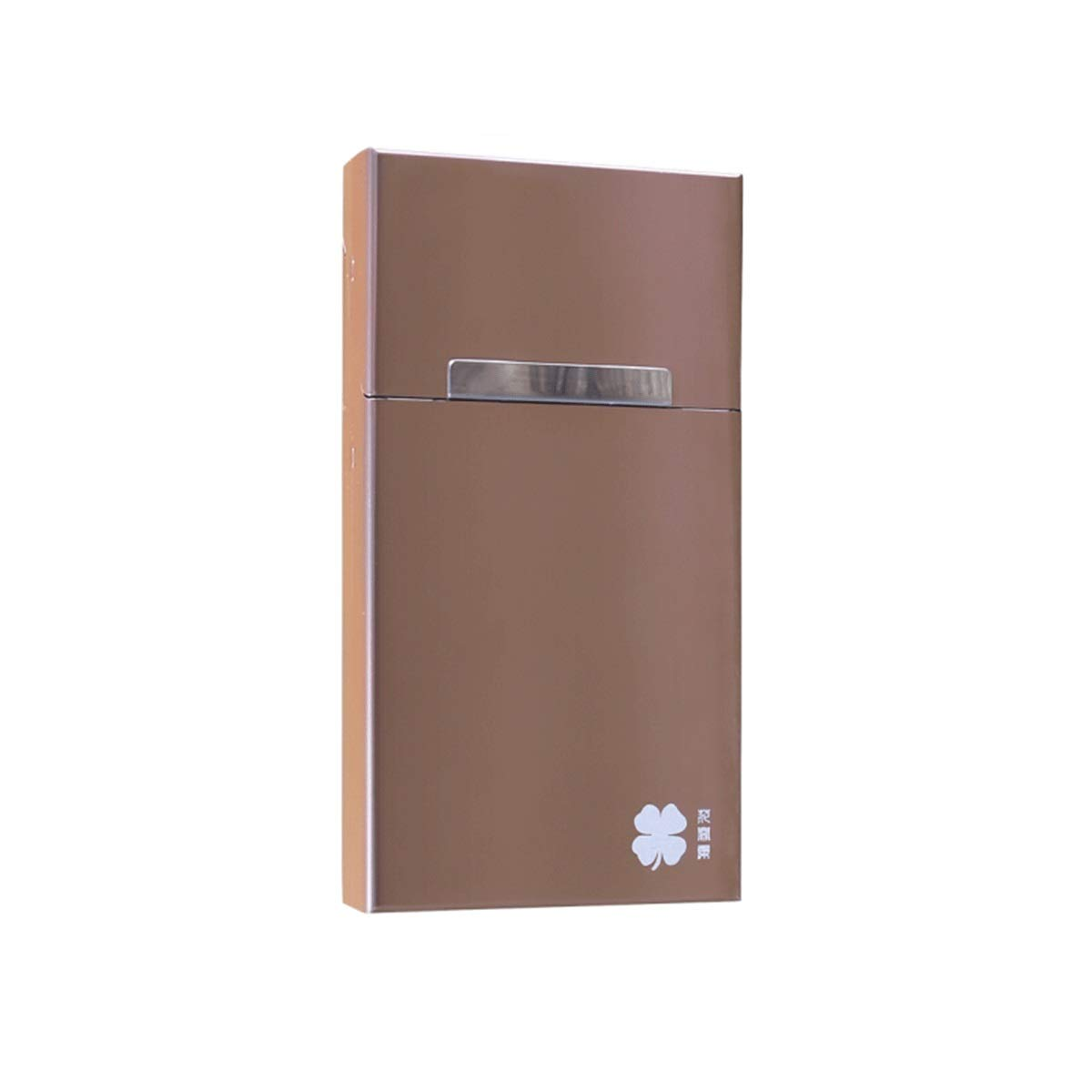KALMAR Metal Cigarette Case, Magnetic Flip Cover Can Be Packaged in Whole, Can Accommodate 20 Cigarettes (Optional in Three Colors) Cigarette Box Cigar Protective Cover (Color : C)