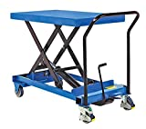 Lift Table Cart - BCART-S-FR Series; Scissor Type: Single; Lowering Method: Foot; Platform Size (W x L): 17-3/4'' x 30''; Raised Height: 31''; Lowered Height: 10''; Capacity (LBS): 300