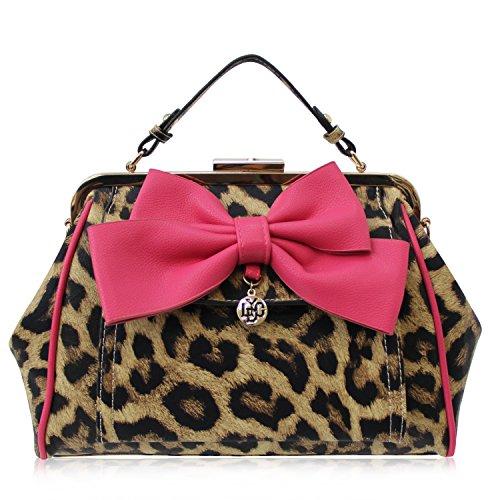 LYDC Erhältlich mano Pink leopardo Navy Grau in Multicolore Taupe London a Leopardo Borsa donna Braun L5457LEO qXgxwF1rX