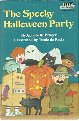 the spooky halloween party step into reading a step 2 annabelle prager 9780394949611 amazoncom books