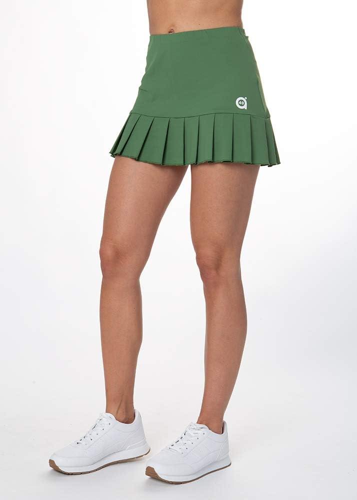 a40grados Sport & Style, Falda Flip (Verde Oliva), Mujer, Tenis y Padel (Paddle)