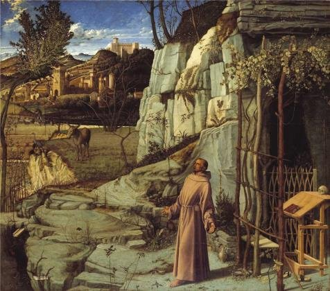 polyster Canvas ,the Cheap but Art Decorative Art Decorative Canvas Prints of oil painting 'Giovanni Bellini - St. Francis in the Desert, c. 1475-78', 18x20 inch / 46x52 cm is best for Nursery gallery art and Home artwork and Gifts