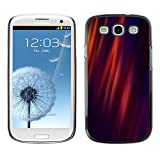 LASTONE PHONE CASE / Slim Protector Hard Shell Cover Case for Samsung Galaxy S3 I9300 / Cool Lines Warm Purple Lights Fire Dark