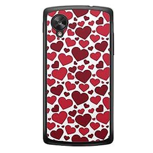Loud Universe HTC M10 Love Valentine Valentine 132 Transparent Edge Case - Red & White