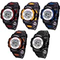 Waterproof Sports Watch,Han Shi Fashion Children Boys Digital LED Alarm Date Watch Clock