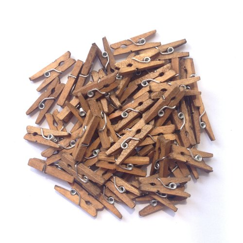 (LWR Crafts Wooden Mini Clothespins 200 Per Pack 1