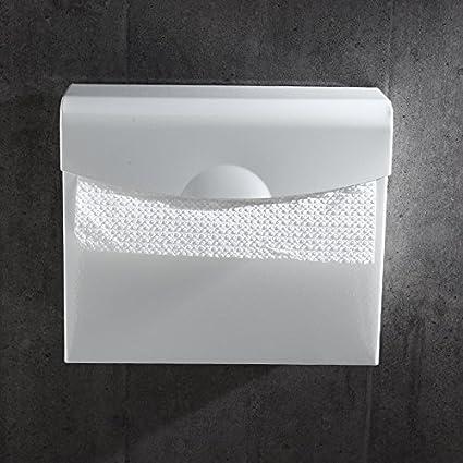 ZHFC Nordic blanco espacio de aluminio papel higiénico frame hotel maletín rollo toalla de papel baño