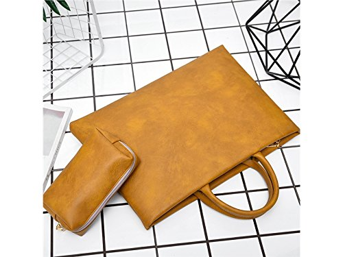 Wesource Outdoor Bags 13 Inch Women Girl PU Leather Tablet Laptop Bag Handbag Inner Bag with Power Pack Good Protecter