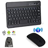 EEEKit 2 in 1 Office Solution Kit for Samsung Galaxy Tab ASUS LG Gpad Toshiba Tabelet PC,Wireless Bluetooth Keyboard and Mouse Combo