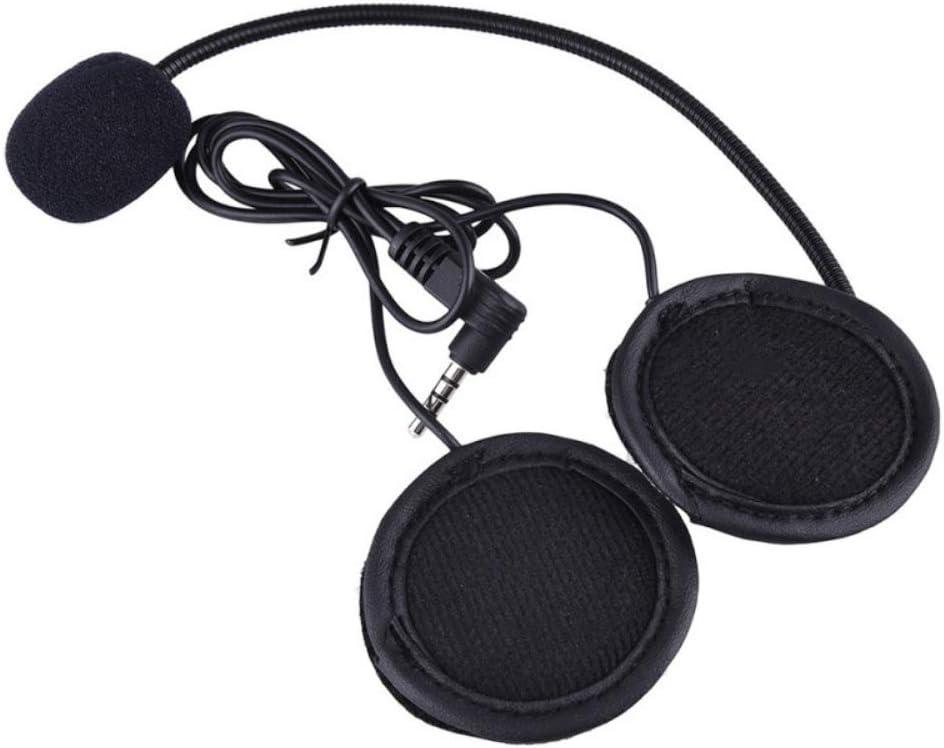 QSPORTPEAK Auriculares para Casco Moto micrófono Auricular Auriculares Jack Enchufe para Nuevo V6 V4 Motocycle Casco Interphone