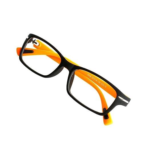 4876d1009bfb Doober Retro Eyeglasses Frame Full-Rim Men Women Vintage Glasses Eyewear  Clear Lens (Orange