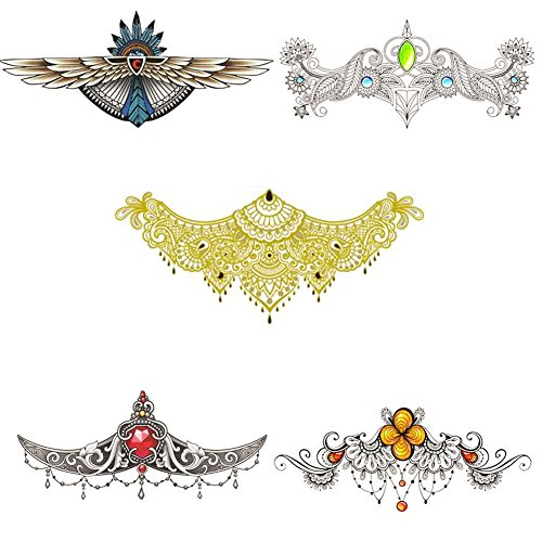Temporary Tattoo Sleeve Jewelry Design Body Temporary Art Personalized Flash Fashon Tribal Tattoos Stickers Long Lasting for Women Sexy