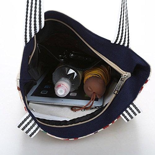 Donna Grigia Messenger Spalla Tracolla A Borse Borsa Bag Tela Beige Mano Ginli Borsetta CqRTv
