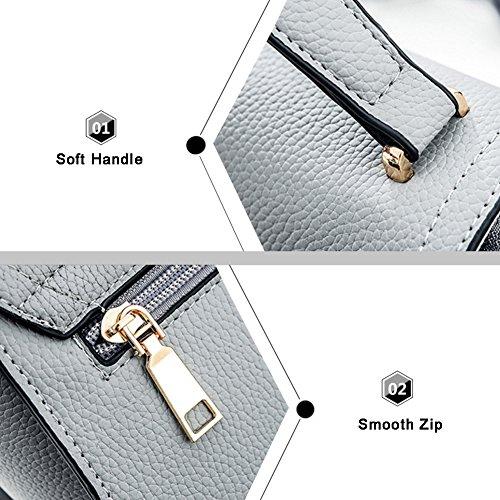 Yoome elegante colgante de perlas colgante bolsa Lichee patrón de bolsos con estilo para las niñas - gris Negro