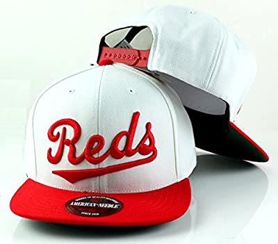 MLB American Needle Scripteez Cooperstown Wool Adjustable Snapback Hat (Cincinnati Reds)