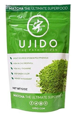 Ujido Matcha Green Tea Powder, 12 Ounce - Going Goji Berry