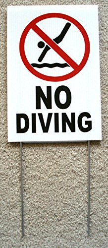 1-Pc Superior Popular No Diving Symbol Sign Warning Declare Risk Swiming Beach Board Size 8