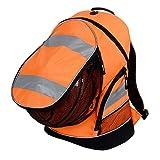 EURO HI VIS BACKPACK 3 HIGH VISIBILTY COLOURS CYCLING RUCKSACK SCHOOL BAG (Hi Vis Orange)