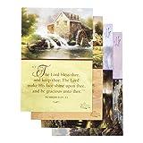 DaySpring Praying for You Greeting Card with Embossed White Envelopes, 12 Count, Thomas Kinkade/Painter of Light/KJV Scripture Verses (83159)
