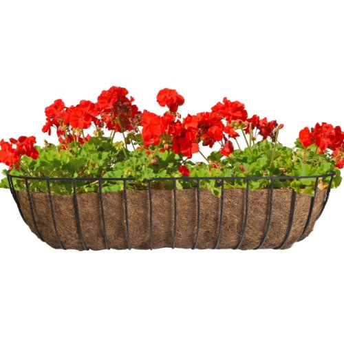 Horse Trough Planter (CobraCo Black 36-Inch Canterbury Horse Trough Planter HTCB36-B)
