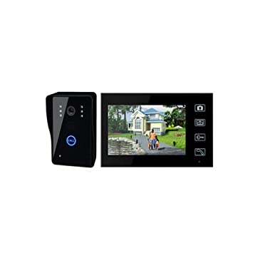 """JJ 2.4G Inicio 7""""Sistema de cámara de Seguridad de teléfono de Puerta de"""