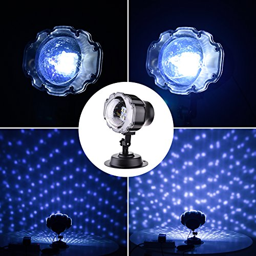 Facaimo Multi LED Activated Party Lights party Snowflake Projector Lights, Dynamic Snow Effect Spotlight for Labor Day Decorations, Garden Ballroom, Party, Holiday Landscape Decorate