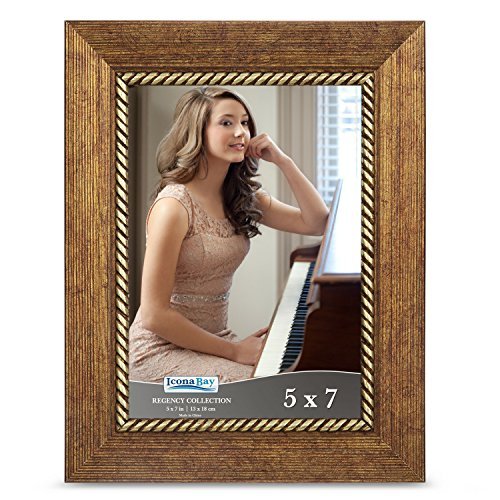 Icona Bay 5x7 Picture Frame  Photo Frame, Wall Mount Hangers