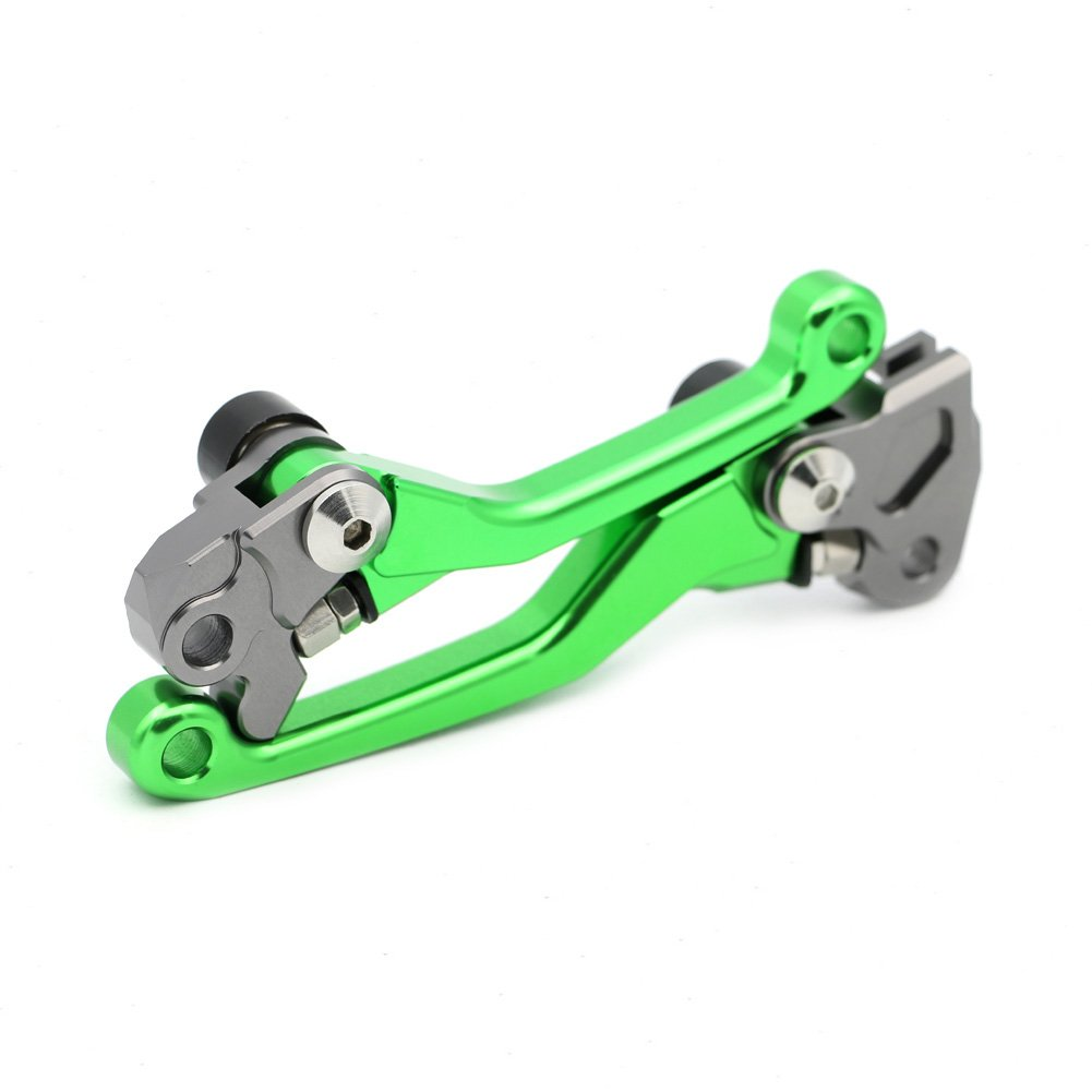 Pivot Brake Clutch Levers for Kawasaki KX65 2000-2015 KX125 2000-2005 KX250 2000-2004 KX250F 2004 Green Motofans