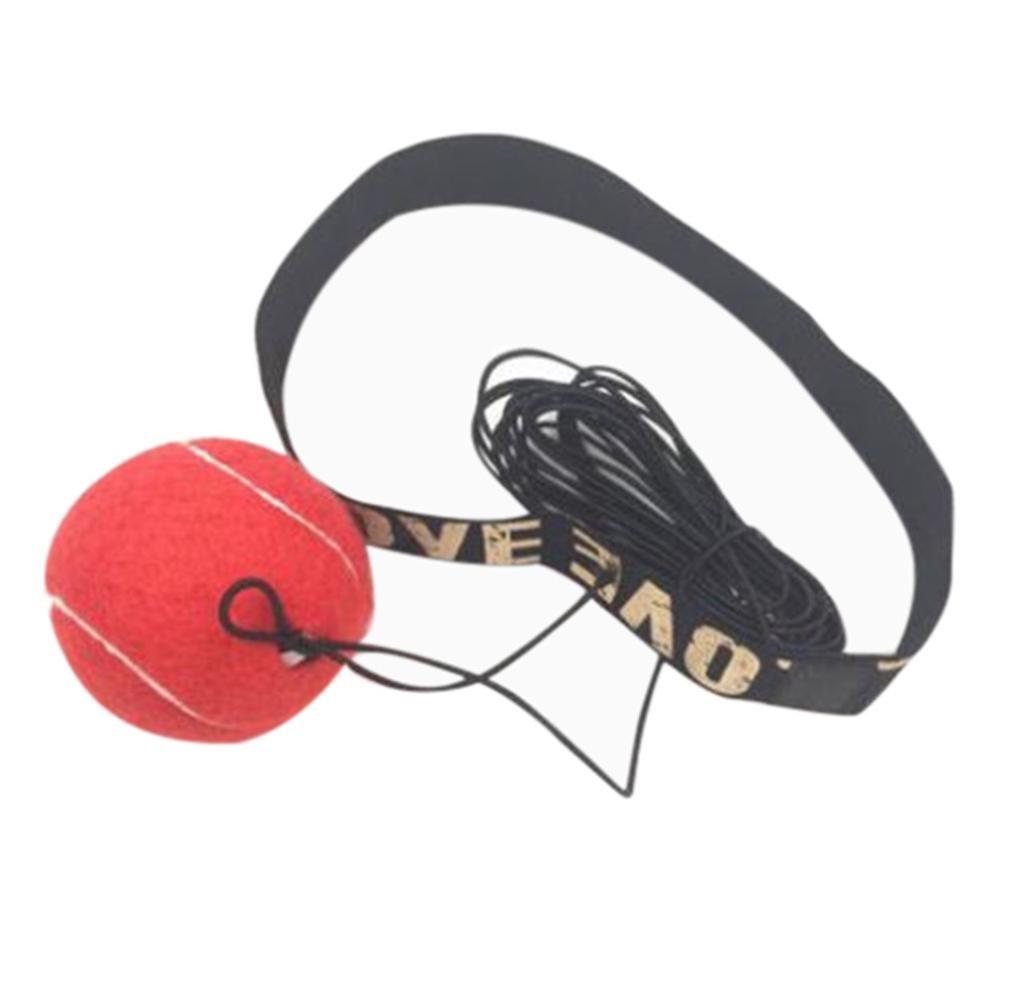 Diadema de Boxeo Rojo STRIR Fight Ball Mejore la Velocidad y Agilidad Equipo de Entrenamiento Punchingballs para Adultos MMA Exercise Fitness Boxing Fighting Ball Port/átil Saco de Boxeo