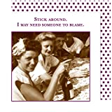 Shannon Martin Girl Designer 20 Count Beverage Napkins, Stick Around