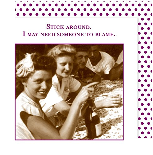 Shannon Martin Design 3-Ply Paper Beverage Napkins, Stick Around, I May Need Someone to Blame (20 Count)