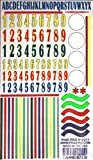 Numbers & Stripes Decals (D)