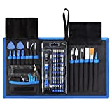 Drone Repair Parts - Syntus 80 in 1 Precision Screwdriver Set with Magnetic Screwdriver Kit, Essential Electronics Repair Tool Kit With Portable Pouch for iPhone, iPad, MacBook, Gaming Console, Controller, Black and Blue