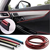 Automaze Car Interior Decoration Accessory Beading, Flexible Styling PVC Moulding Trim Strip, (5 Meters, Red)